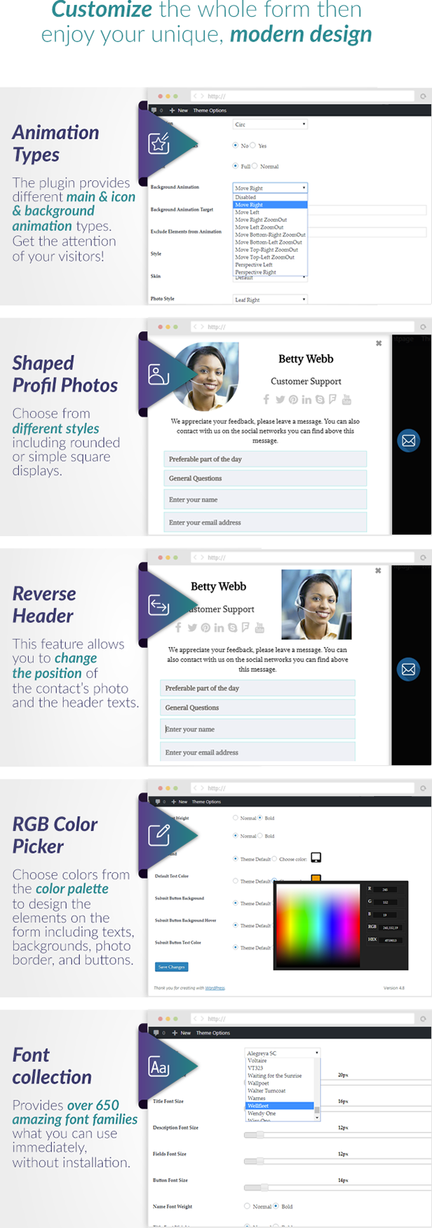 Slide Out Contact Form Styles