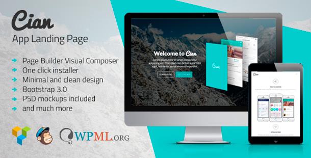 Cian - App Landing Page WordPress