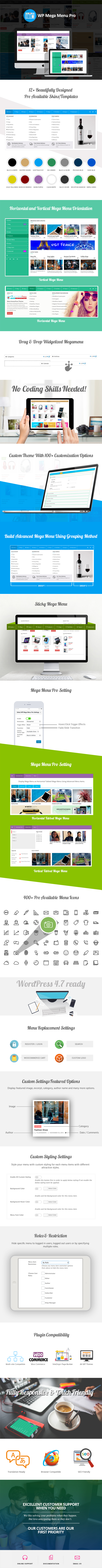 WP Mega Menu Pro - Sales Page