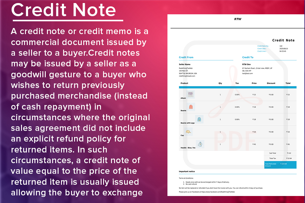 WooCommerce PDF Invoice & Packing Slip with Credit Note - 2