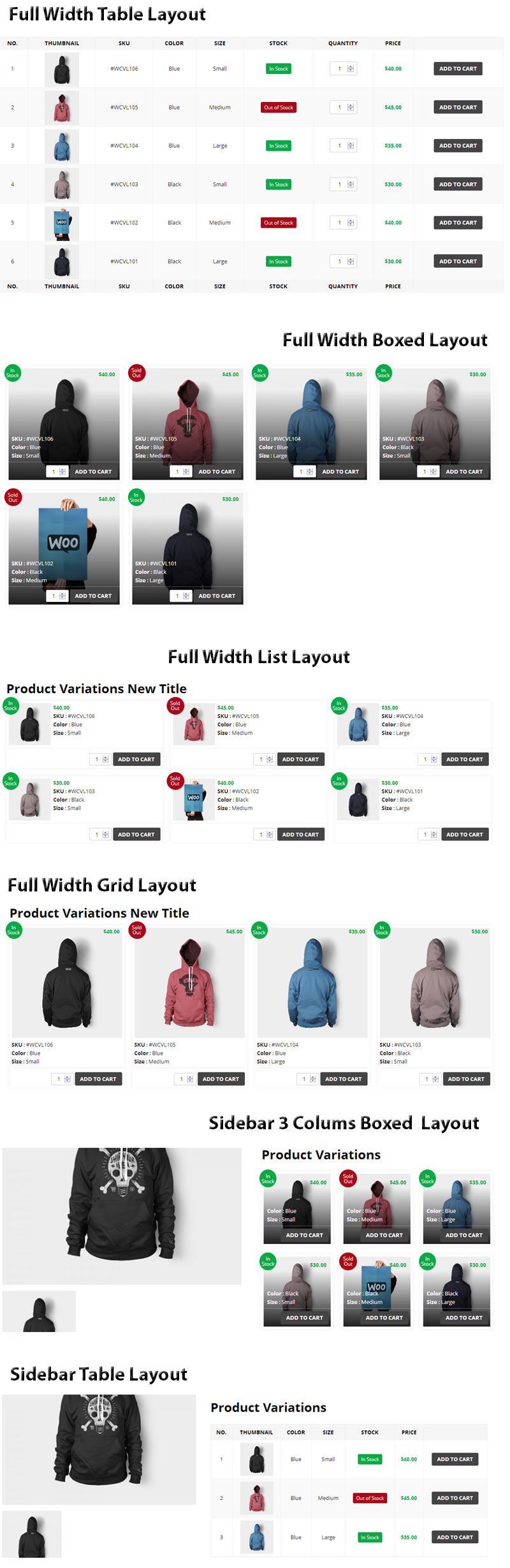 WooCommerce Product Variations Layouts - 2