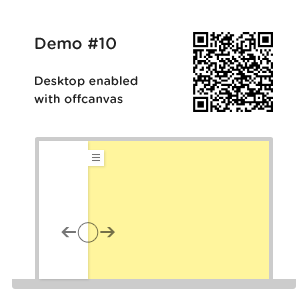 panel on desktop with offcanvas transition