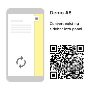 convert existing sidebar into side panel
