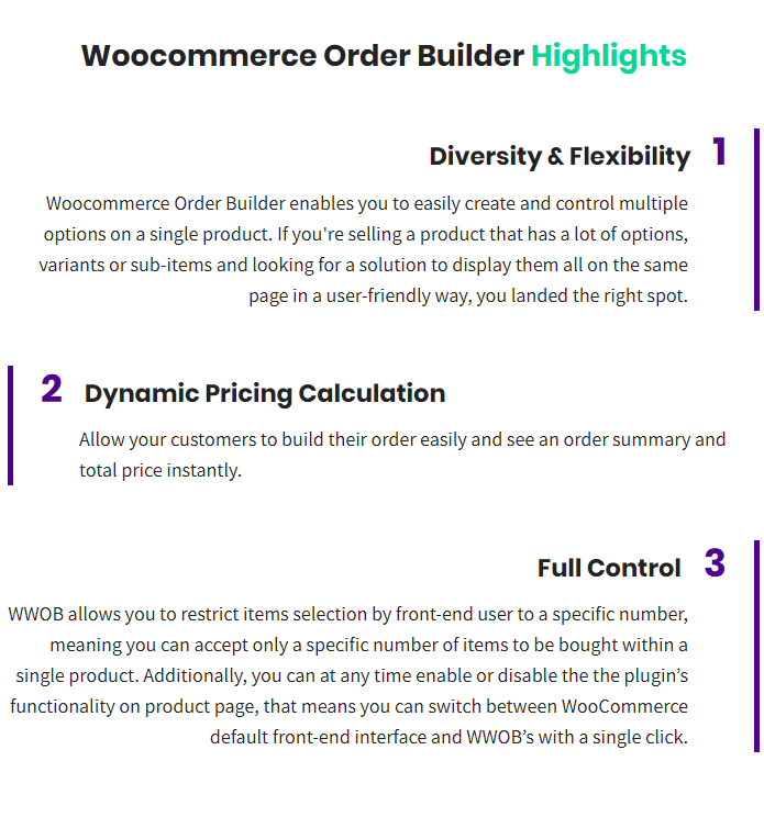 WooCommerce Order Builder   Combo Products & Extra Options - 1