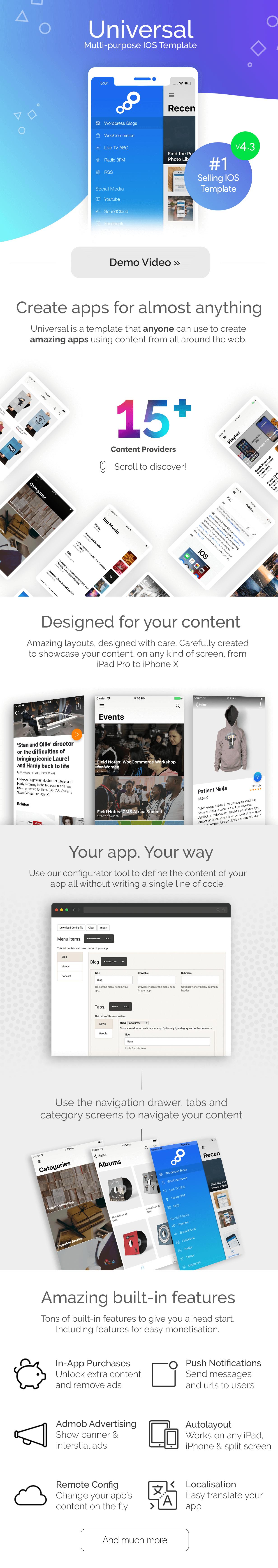 Universal for IOS - Full Multi-Purpose IOS app - 1