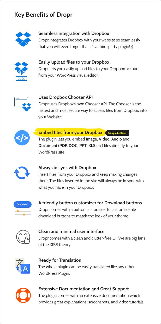 Dropr - Dropbox Plugin for WordPress - 3