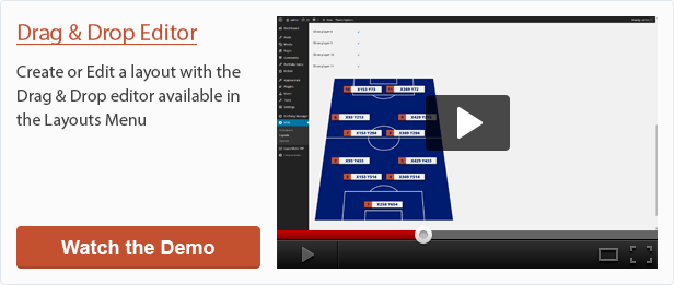 Edit a layout with Soccer Formation VE