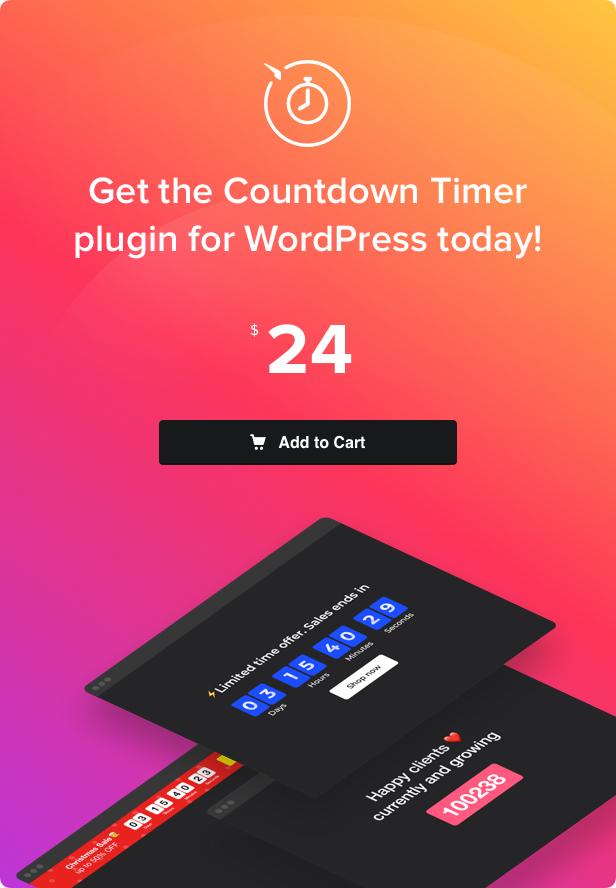 Countdown Timer - WordPress Countdown Timer plugin - 4