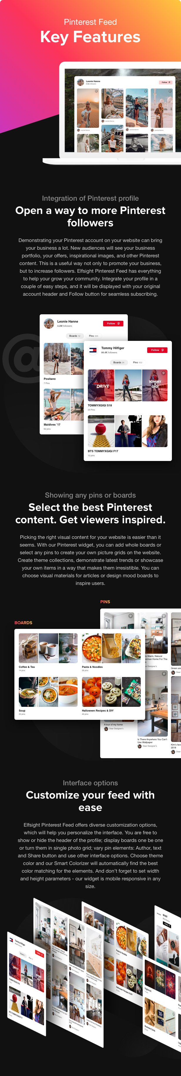 Pinterest Feed - WordPress Pinterest plugin - 1