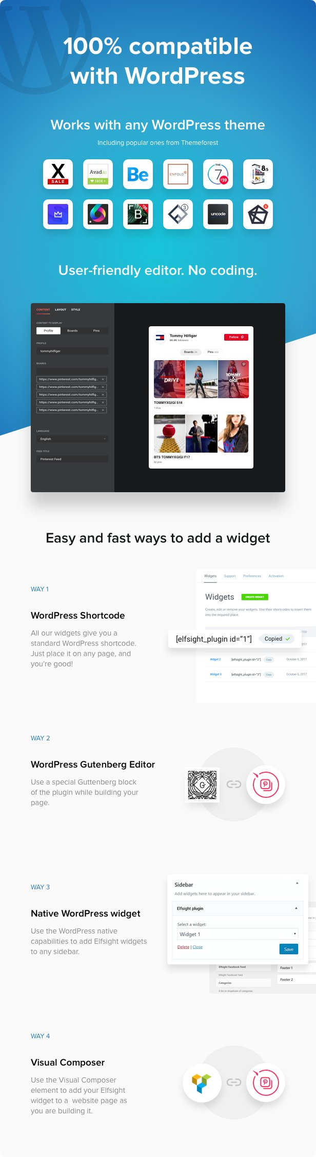 Pinterest Feed - WordPress Pinterest plugin - 2