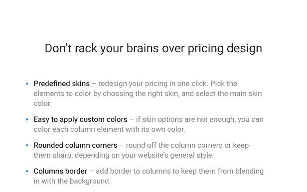 Pricing Table — WordPress Pricing Table Plugin - 5