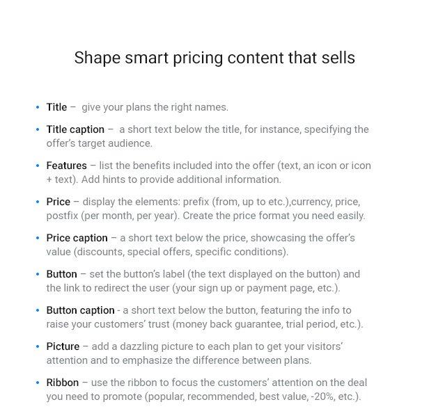 Pricing Table — WordPress Pricing Table Plugin - 9