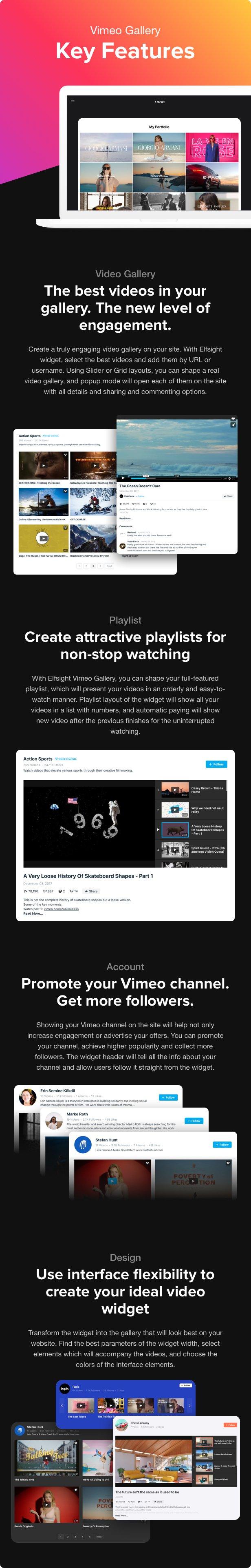 Vimeo Gallery - WordPress Vimeo plugin - 1