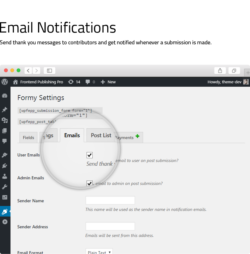Frontend Publishing Pro - WordPress Post Submission Plugin - 13