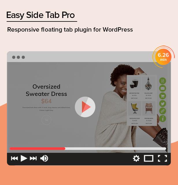 Easy Side Tab Pro - Responsive Floating Tab Plugin For WordPress - 1