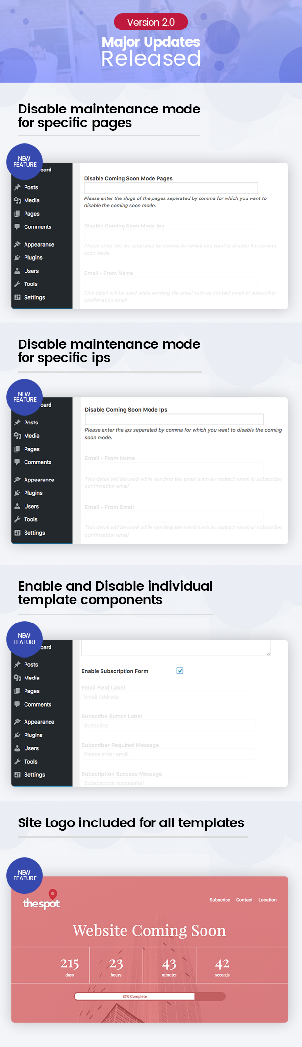 Everest Coming Soon - Ultimate Coming Soon, Maintenance Mode Plugin for WordPress - 16