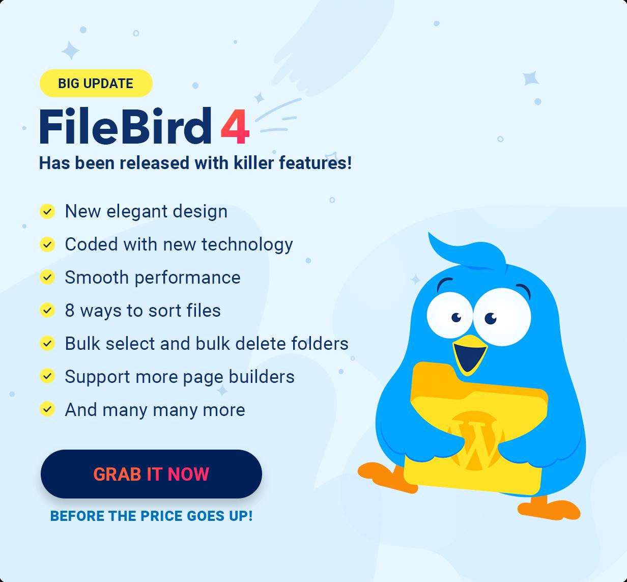 FileBird 4 - Big Update