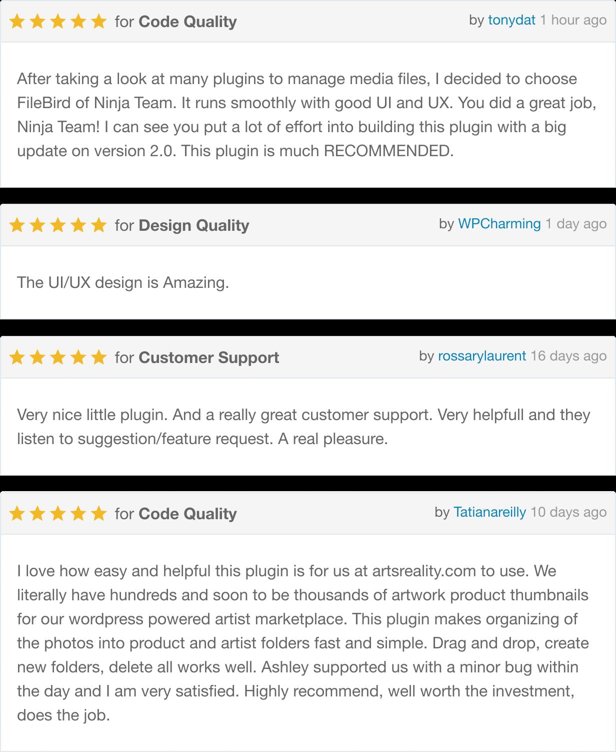 FileBird Reviews