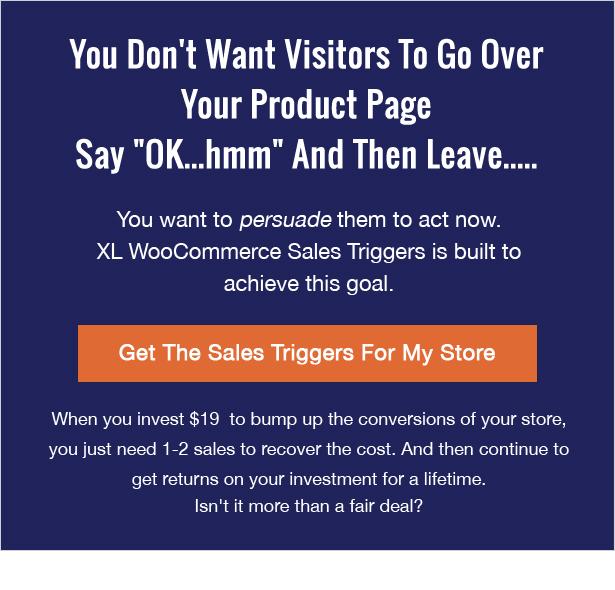 XL WooCommerce Sales Triggers - 25