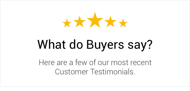 please have a look what buyers say about our quality work and support