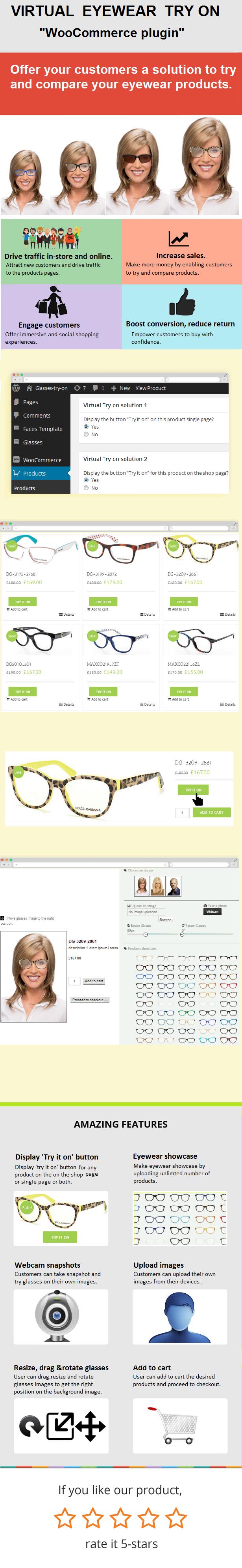 "Eyewear Virtual Try-on ""WooCommerce plugin"" - 1"