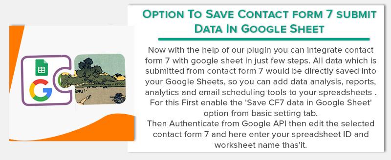 WordPress Contact Form 7 PDF, Google Sheet & Database - 6