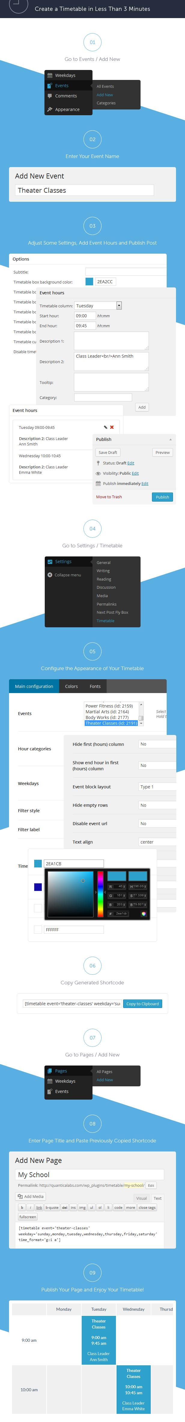 Timetable Responsive Schedule For WordPress - 12
