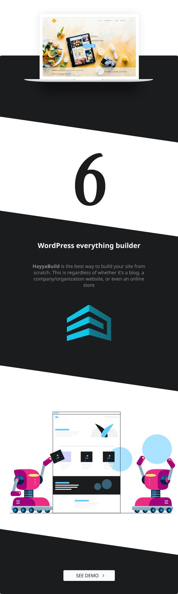 HayyaBuild wordpress builder plugin