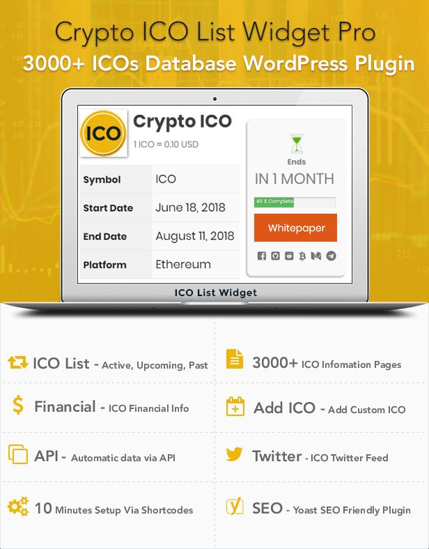 Crypto ICO List Widgets Pro - WordPress ICO Database Plugin - 2