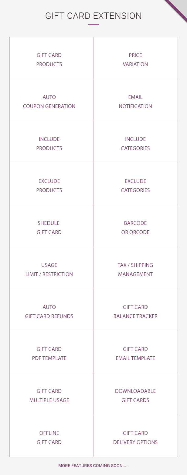 Gift Card Features