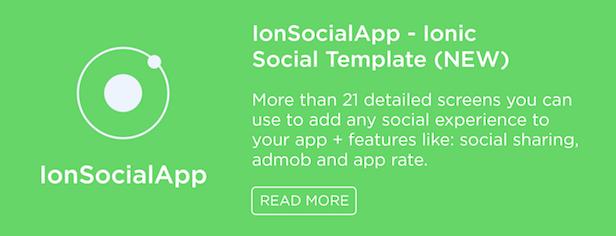 IonSocialApp Ionic Social Template
