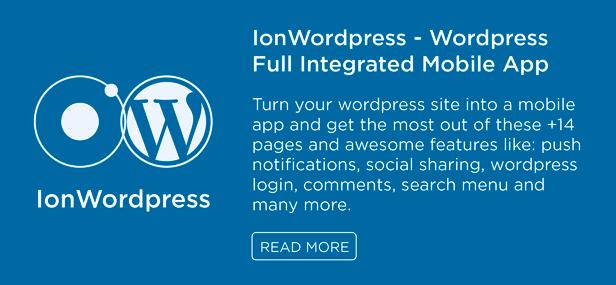 IonWordpress wordpress mobile app