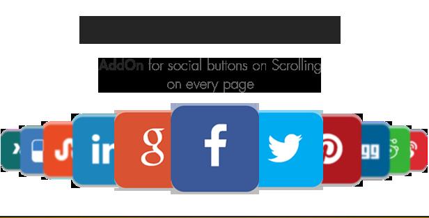 Social Share top Bar AddOn - WordPress - 4