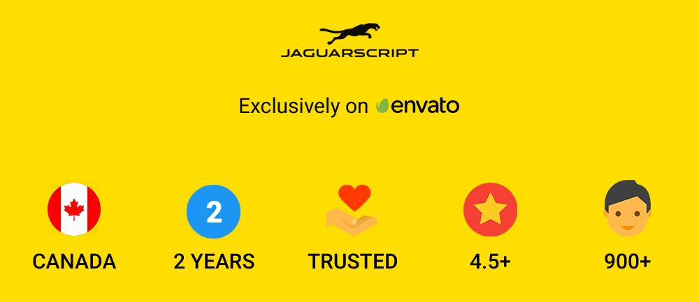 JaguarScript Trusted By Envato