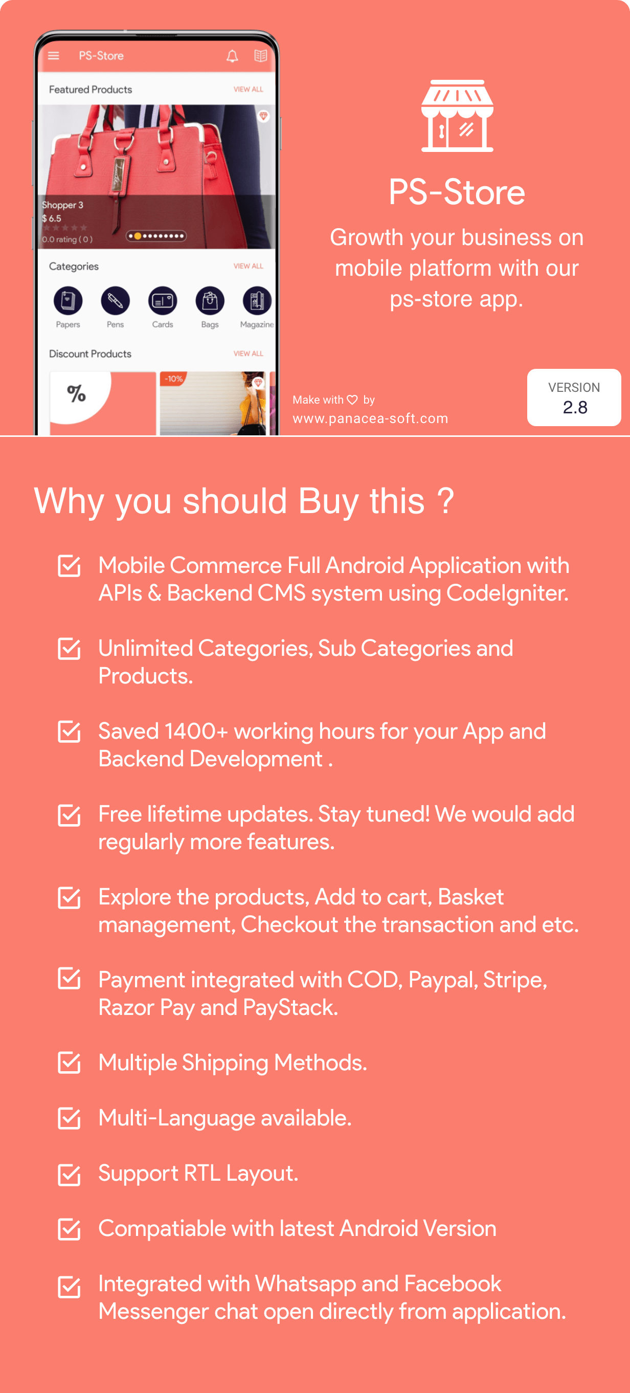 PS Store ( Mobile eCommerce App for Every Business Owner ) 2.7 - 2