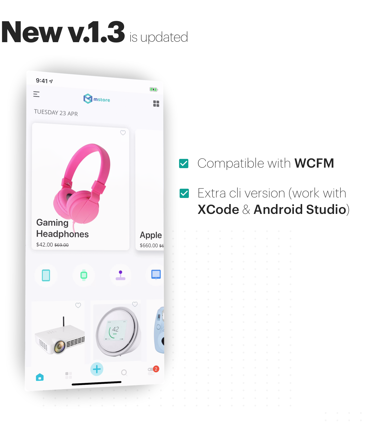 MStore Multi Vendor - Complete React Native template for WooCommerce - 1