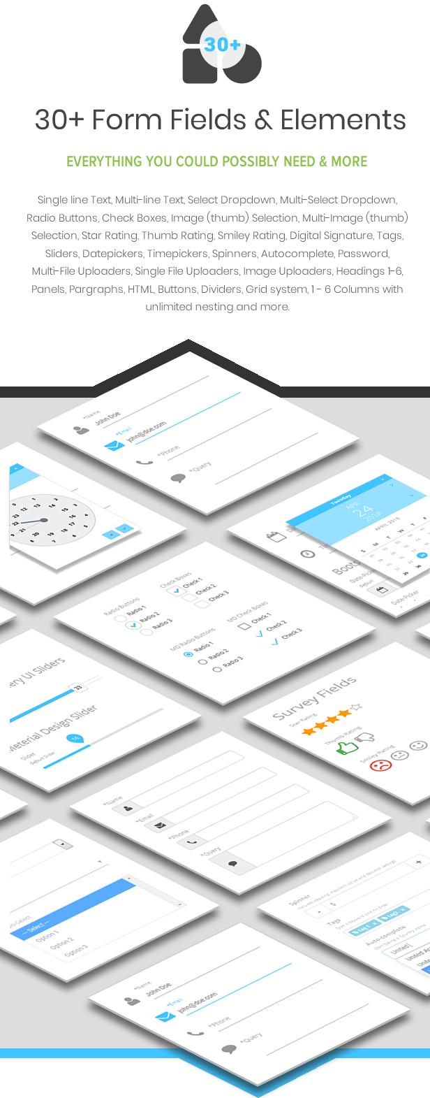 Best WordPress Form Builder Plugin - 30+ Form Fields and Elements