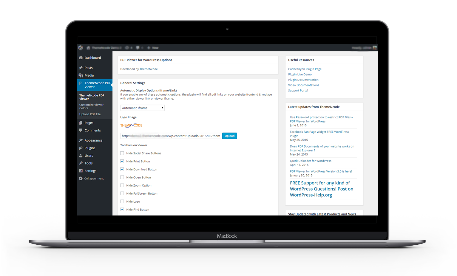 PDF viewer for WordPress - 1