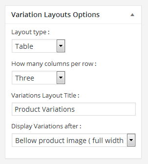 WooCommerce Product Variations Layouts - 1