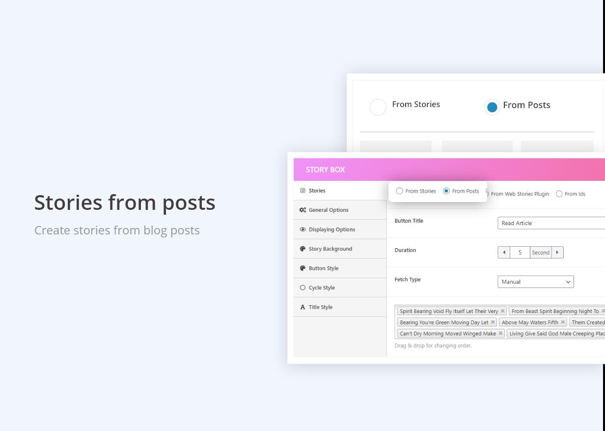 WP Story | Create Instagram Style Stories On WordPress | Blog
