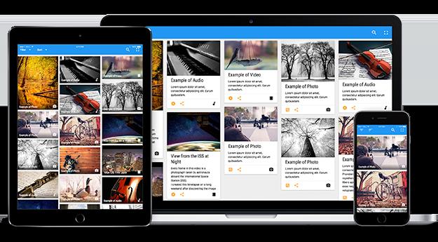 Flow Gallery responsive display