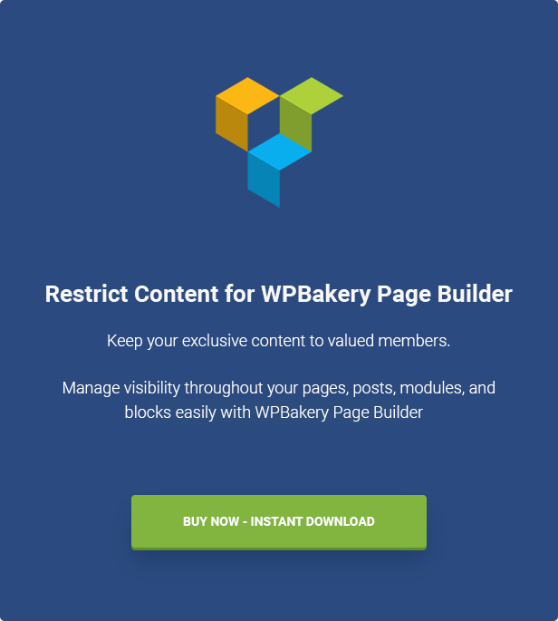 Restrict Content for WPBakery Page Builder