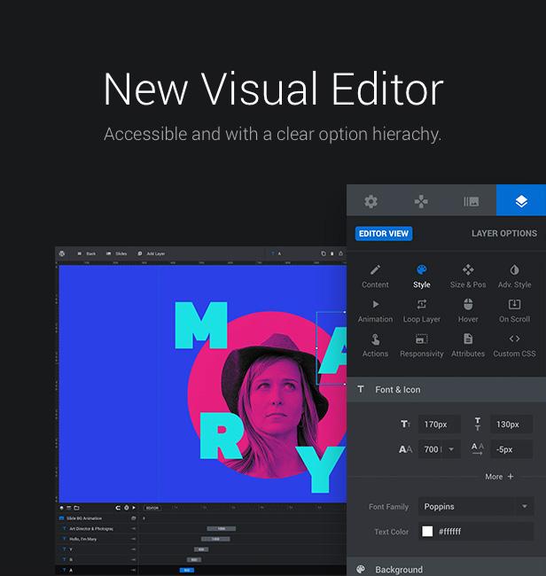 Slider Revolution 6 Magento Extension - Visual Editor