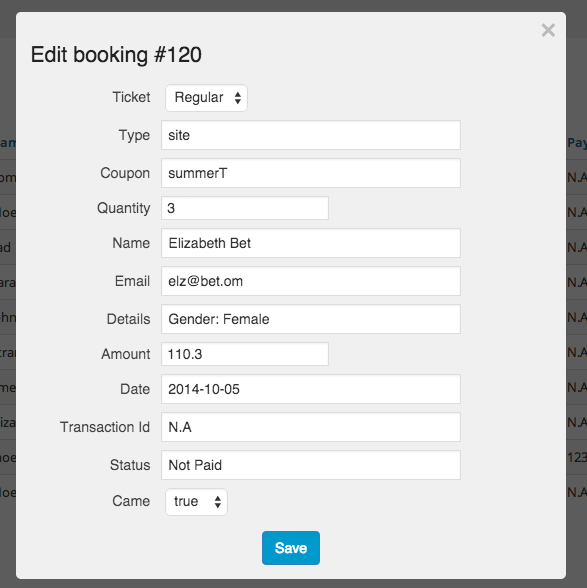 Event Booking Pro: Analytics & Checkin Addon - 7