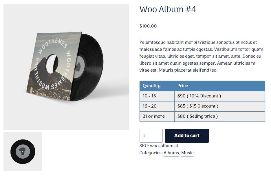 Woo Product Quantity Range Price - 3