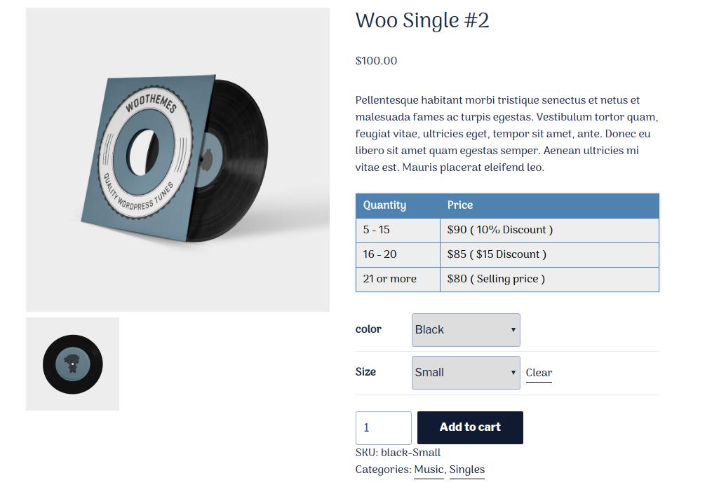 Woo Product Quantity Range Price - 5