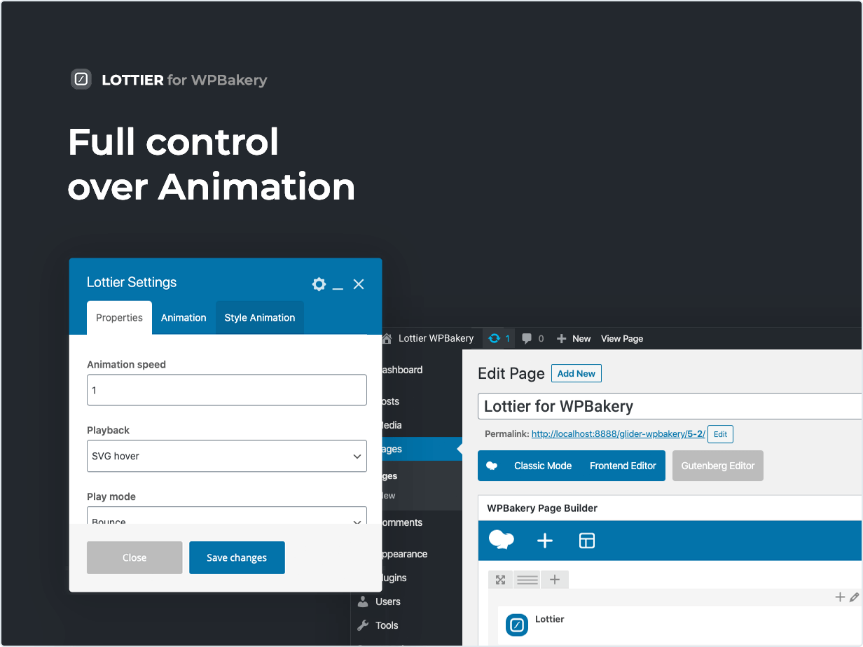 Full control over Animation