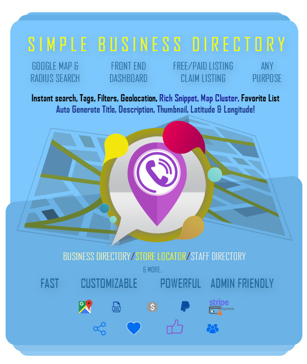 Simple Business Directory with Maps, Store Locator, Distance Search - 6