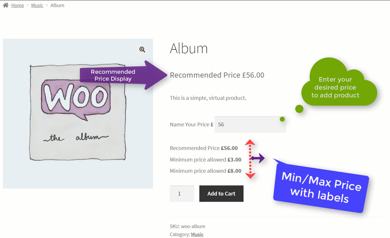 WooCommerce Name Your Price