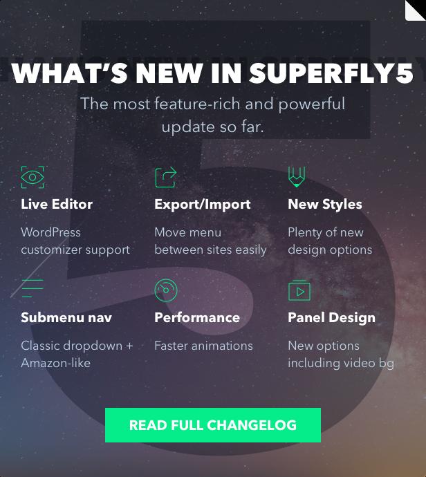 Superfly WordPress menu plugin 5 update